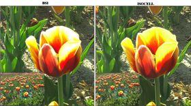 Dette bildet skal vise forskjellen på nåværende og den nye sensoren.