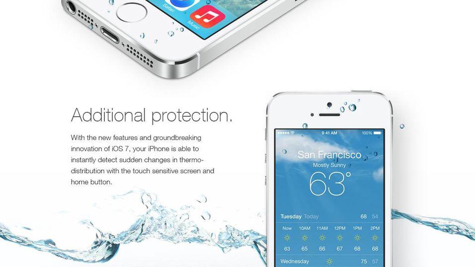 Nei, iOS 7 gjør  ikke  iPhonen din vanntett