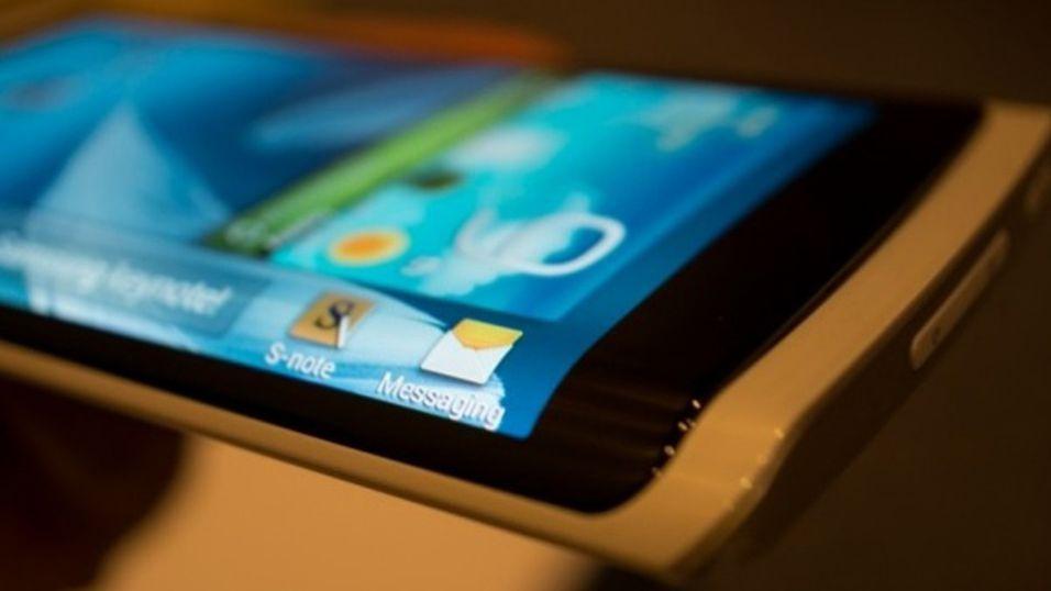 Samsung kommer med kurvet smarttelefon