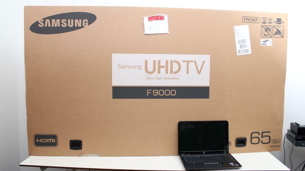 Esken til Samsungs nye 65-tommer er langt fra liten og nett.