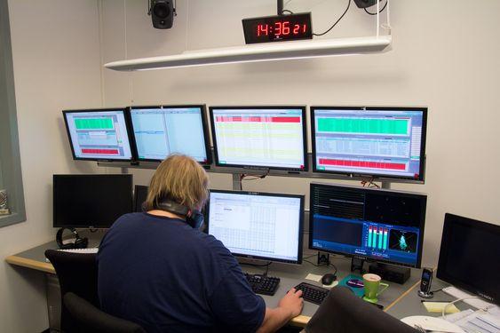 En av programbankens overvåkningssentraler.
