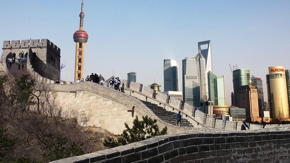 Kinesiske myndigheter vil slett ikke åpne sensurmuren for Shanghai.