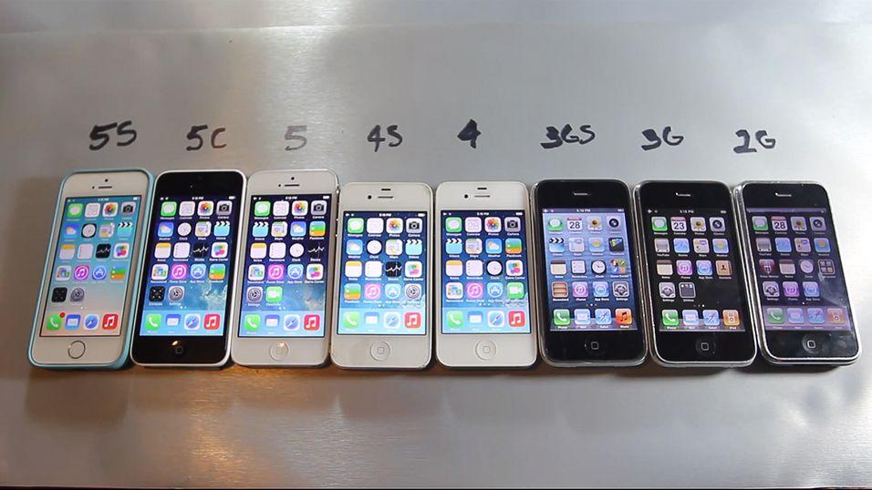 Se alle iPhone-telefonene bli testet samtidig