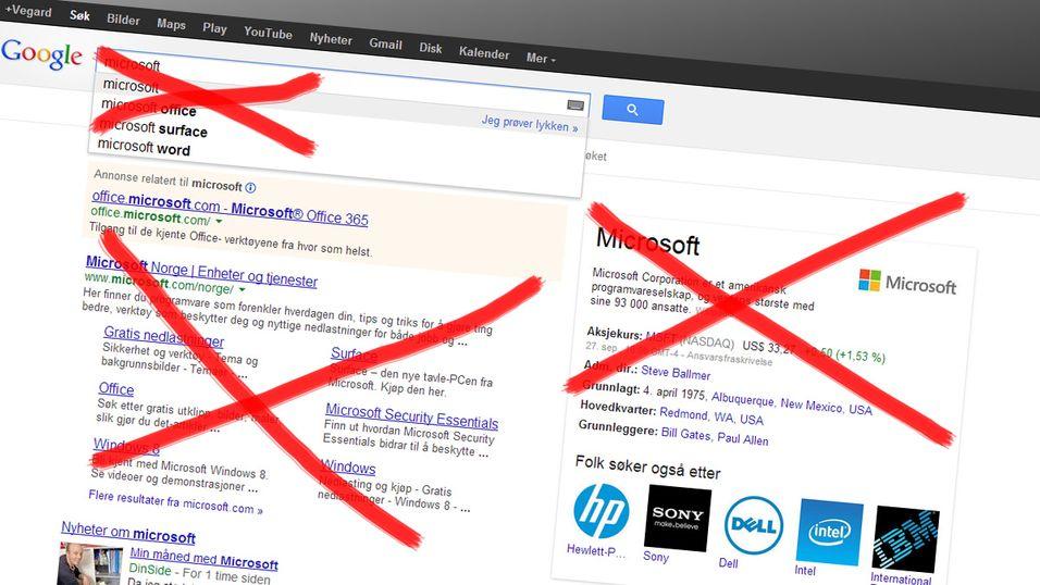 Microsoft ba Google om å sensurere Microsoft