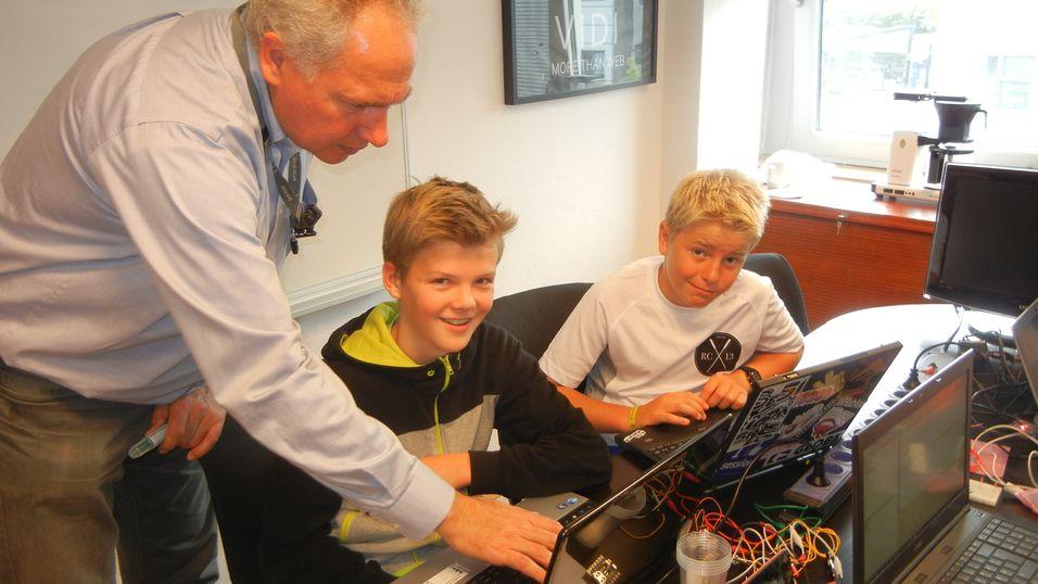 Fra Lær kidsa koding sin summercamp i Bergen.