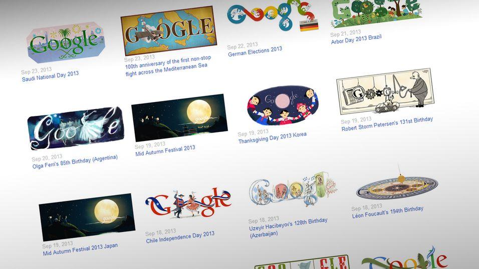 Se hver eneste Google-doodle i én GIF