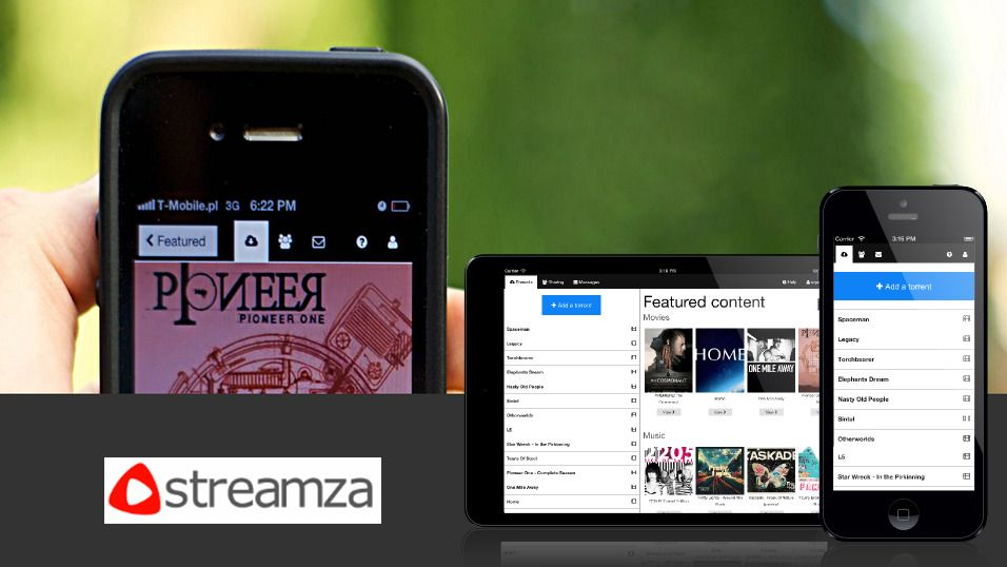 Strøm torrent-innhold trådløst til flere enheter med Streamza