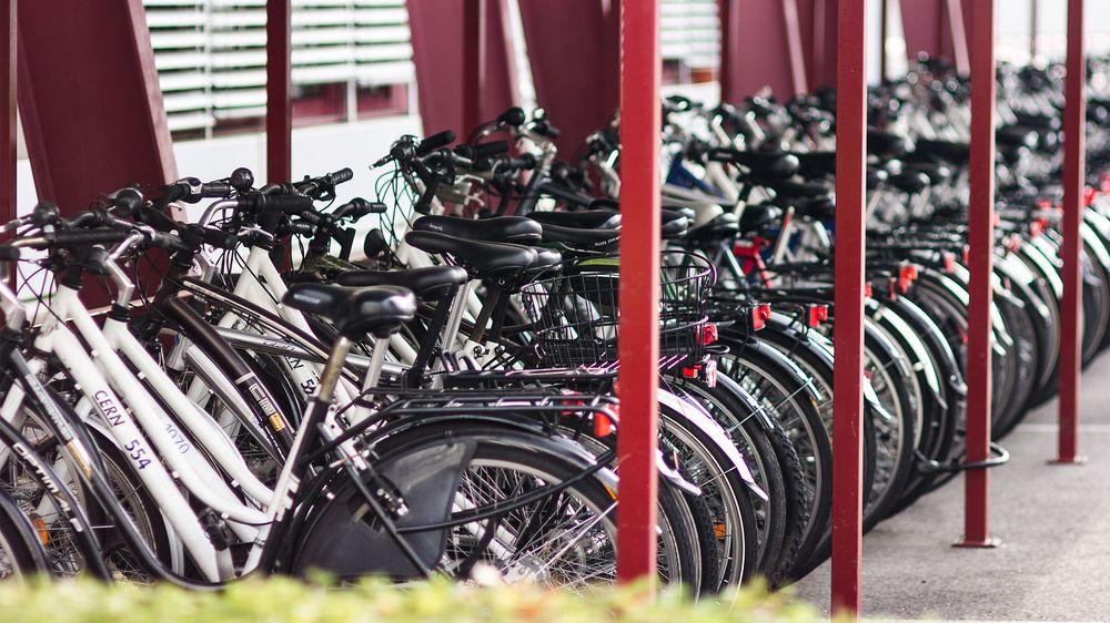Selv om CERN sine campus er gigantiske, og har egne veinett med både rundkjøringer og parkeringsplasser, er sykkelen et populært fremkomstmiddel. CERN har også flere tusen sykler de låner bort til sine ansatte, helt gratis – bortsett fra i sommermånedene, hvor etterspørselen nok er hakket høyere enn rundt jul.