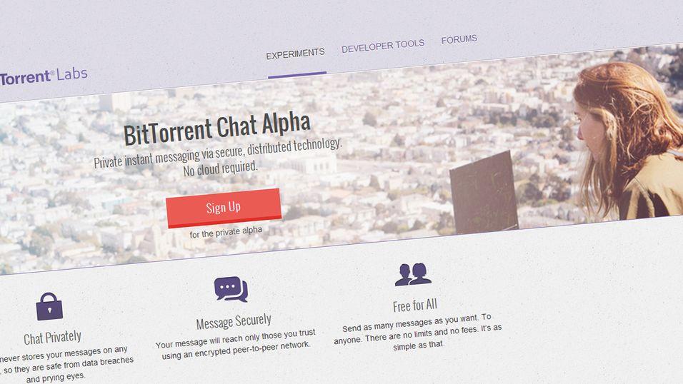 BitTorrent bygger spionsikkert meldingssystem