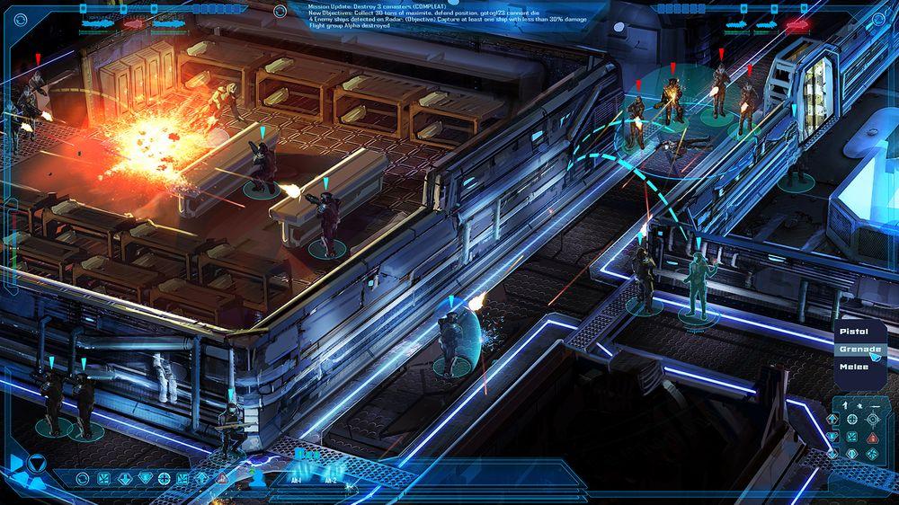 Konseptbilde som viser planene for taktisk kamp.