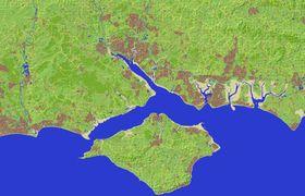 Sørkysten av området. (Bilde: Ordnance Survey)