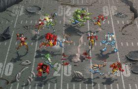 Eit døme på korleis ein kamp i Mutant Football League kan kome til å sjå ut.