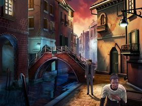 Her befinner Malachi Rector seg i Andy Hoyos visjon av Venezia. Dette er et av de første områdene du besøker i spillet.
