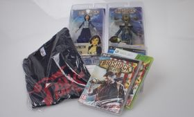 BioShock Infinite til valgri plattform, figurer og t-skjorte.