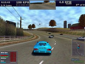 Skjermbilde fra Need for Speed: Hot Pursuit III. (Kilde: Mobygames.com)