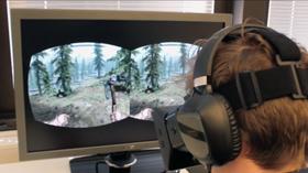 Gamer.no-journalist Audun Rodem tester Skyrim. (Foto: Jørgen Elton Nilsen, Hardware.no)