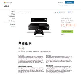 Xbox One hos Microsofts egen butikk.