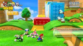 Skjermbilde fra Super Mario 3D World.