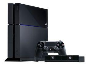 PlayStation 4 med håndkontrolleren og det nye Move-kameraet.