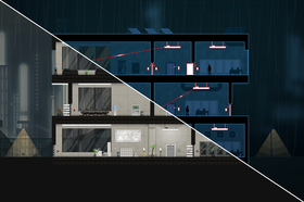 Dette bildet viser et nivå i normal modus og crosslink-modus.