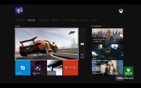 Menysystemet på Xbox One.