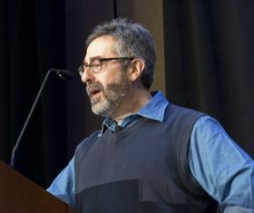 Warren Spector under GDC 2013.