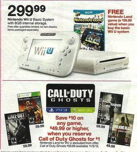 Bilde av annonsen fra Target.