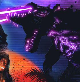 Et illustrasjonsbilde av en drage med laserøyne. Forfriskende!