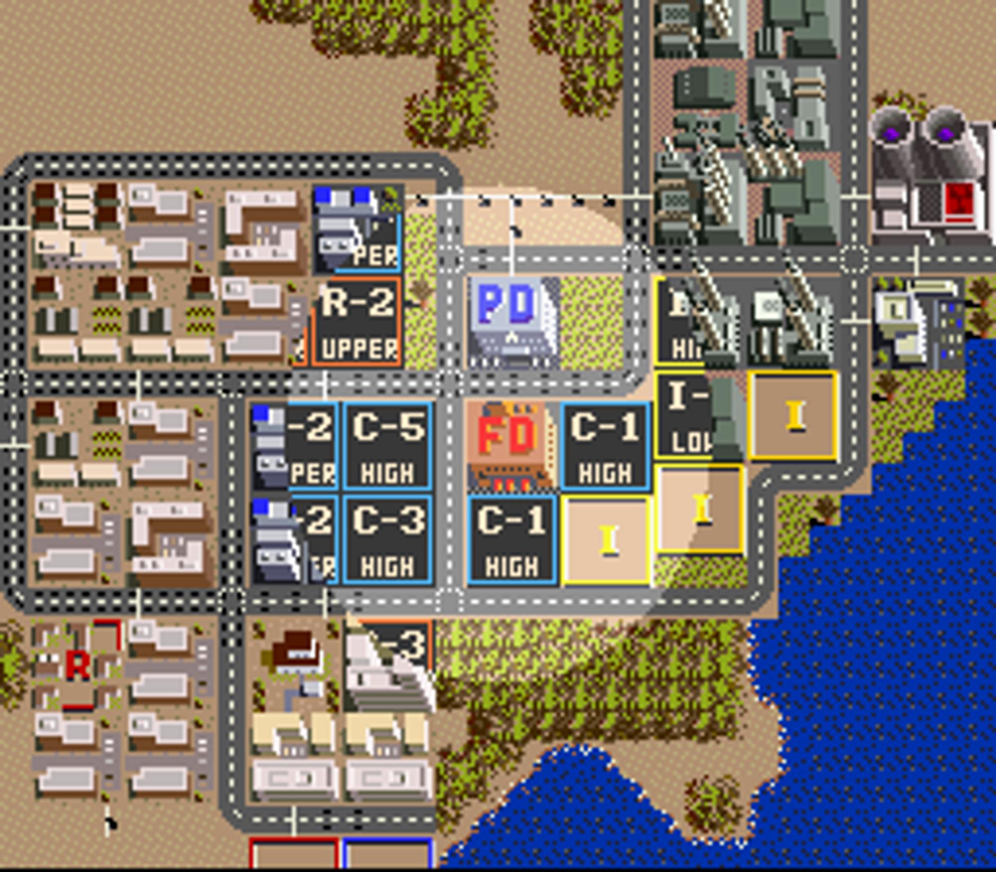 SimCity på Super Nintendo.