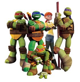 Slik ser Turtles ut på Nickelodeon.