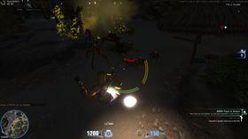 Prøver å unngå monstrene med rakettene.