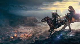 Geralt rir mot konflikt. (Bilde: Game Informer)