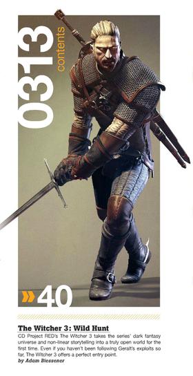Den nye Geralt – nå med skjegg. (Bilde: Game Informer)