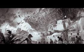 Konseptkunst som viser jordskjelv.