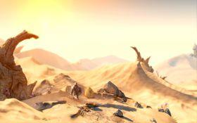 Selv en ganske kjedelig ørken ser fryktelig vakker ut.