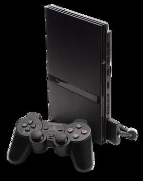 Slik ser den tynne utgaven av PlayStation 2 ut.