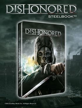 Dishonored i stålbokutgave.