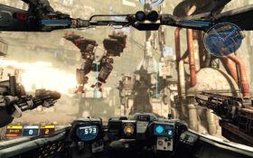 Kamproboter braker sammen i Hawken.