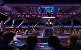 Skjermbilde fra Star Wars: TIE Fighter.