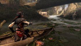 Padling i Assassin's Creed III: Liberation er eit mareritt.