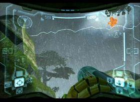 Vakre og regnfulle Tallon Overworld.