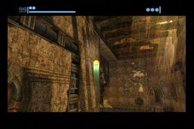 Solstrålene trenger gjennom ruinene i Chozo Ruins.