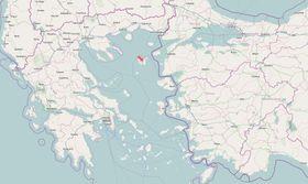 Lemnos ligger i et område hvor det fortsatt er stor spenning. Bilde © OpenStreetMap-bidragsytere, CC BY-SA.
