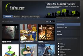Steam Greenlight lar brukerne velge hva de vil se. (Faksimile av http://steamcommunity.com/greenlight/)