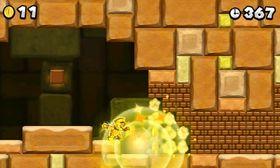 Én bestemt power-up lar deg skyte flammekuler som gjør ALT om til gull.