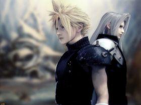 Cloud og Sephiroth.