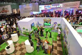 Segas og Nintendos område på messa i fjor. (foto: offisielt pressebilde)