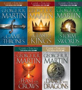 Bøkene til George R. R. Martin har blitt svært populære og har funnet veien til en rekke ulike medieplattformer.