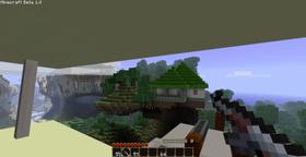 Dersom det du egentlig ønsker deg er Minecraft med pistoler finnes det modifikasjoner for slikt. Bildet er fra SDK Gun Mods for Minecraft.