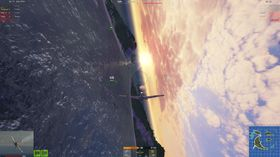 Solnedgang over Stillehavet.
